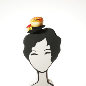 Cheeseburger and Fries Fascinator, Hamburger Fascinator