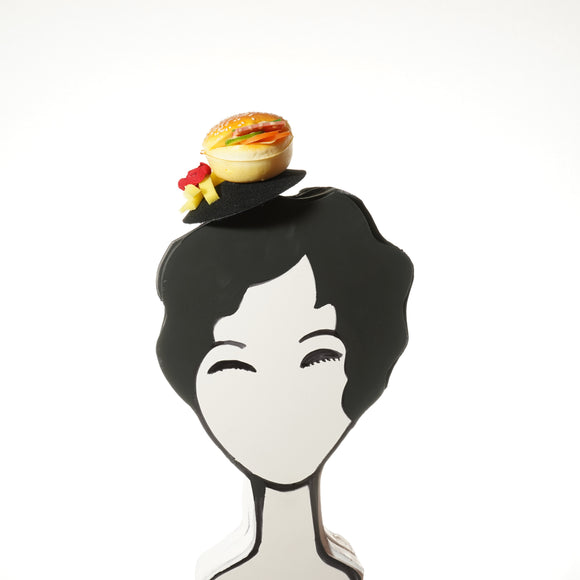 Cheeseburger and Fries Fascinator, Hamburger Headband