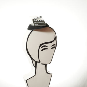 Lights, Camera, Action! Movie Clapboard Fascinator, Hollywood Fascinator