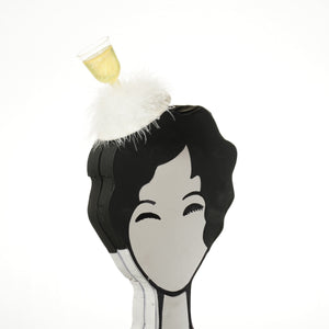 white wine fascinator by A Daily Obsession