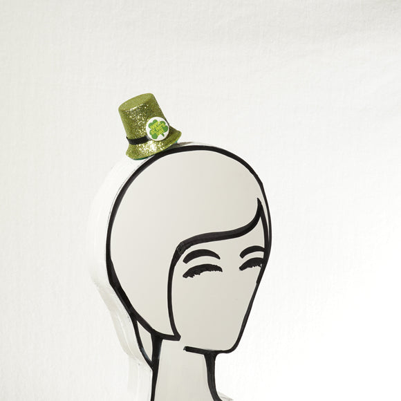 Clearance! Green Top Hat,  St. Patrick's Day Mini Top Hat, Leprechaun Fascinator