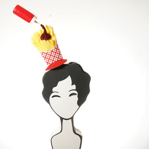 Fries and Ketchup Fascinator by A Daily Obsession