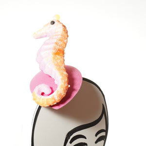 pink seahorse fascinator by A Daily Obsession