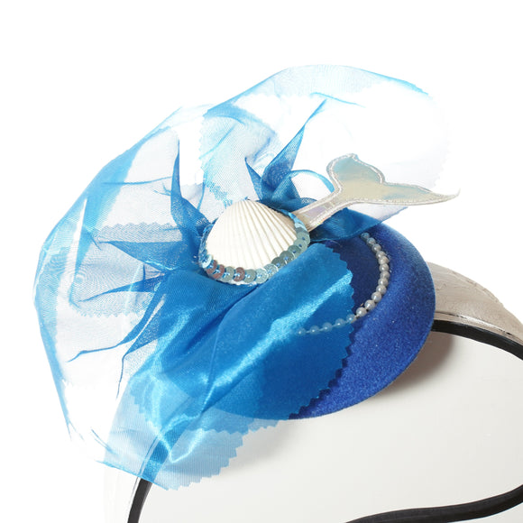 Mermaid Fascinator, Mermaid Hat, Beach Fascinator