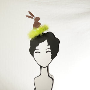Easter Chocolate Bunny Fascinator by A Daily Obsession