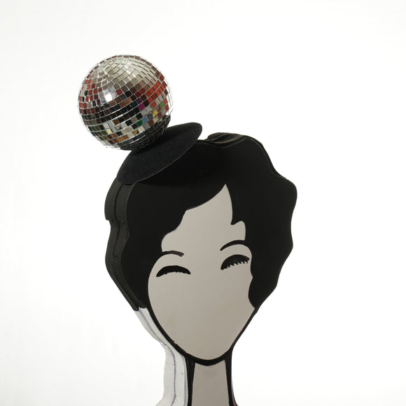 disco ball fascinator by A Daily Obsession