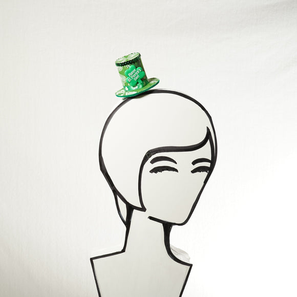 Clearance! Green St. Patrick's Day Mini Top Hat, Leprechaun Fascinator