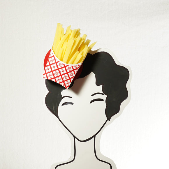side of fries fascinator by A Daily Obsession