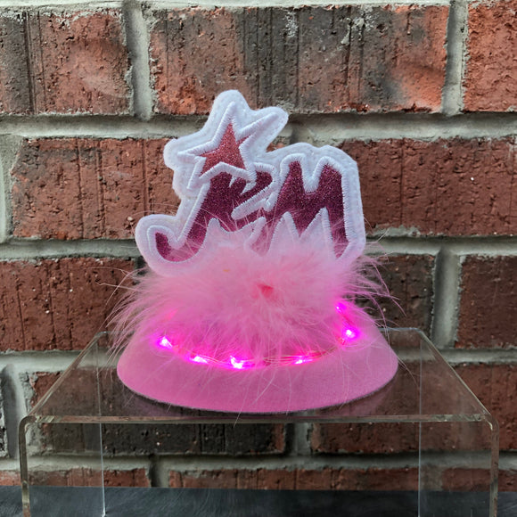 Truly Outrageous Pink Fascinator with Lights!, Retro Decor