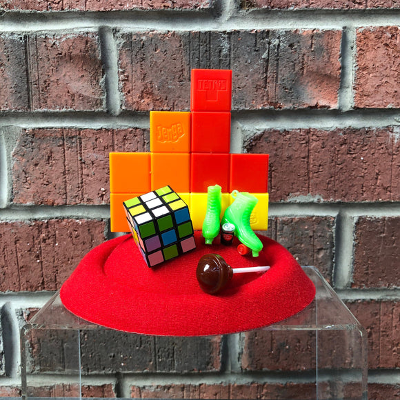 Vintage Tetris Fascinator with Puzzle Cube, Video Game Fascinator, Retro 80s Costume
