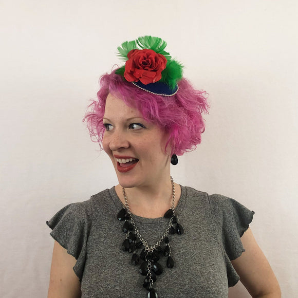 Roses are Red Fascinator, Rose Fascinator