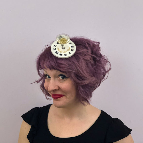 New Year's Eve Champagne Fascinator, Cocktail Headband