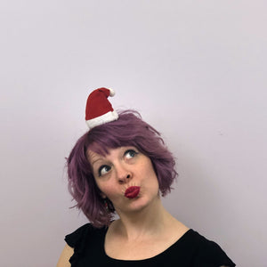 Mini Santa Hat: Christmas Fascinator