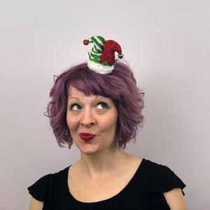 Christmas Jester Elf Hat Hair Clip: Christmas Fascinator