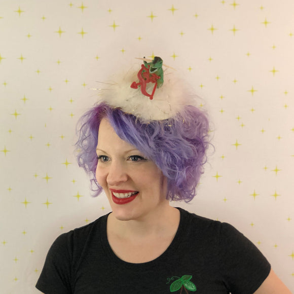 Cupid Dinosaur Valentine Fascinator, Valentine Decor, T-Rex Cupid