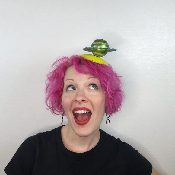 Out of This World Planet Fascinator, Space Hat