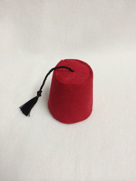 Mini Red Fez Hat, Fez Fascinator