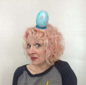 Blue Polka Dot Easter Egg Fascinator by A Daily Obsession