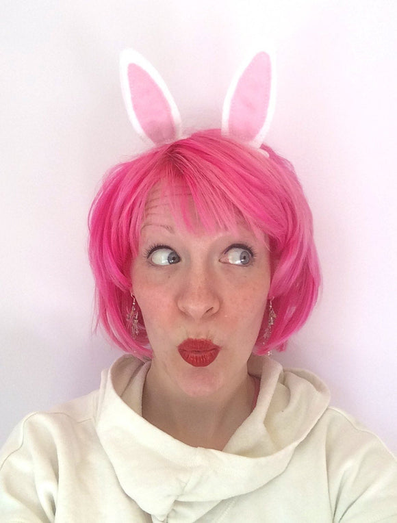 Cosplay Easter Bunny Ear Hair Clips: Rabbit Ear Fascinator