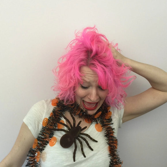 Giant Brown Flocked Spider Hair Clip or Lapel Clip, Halloween Costume