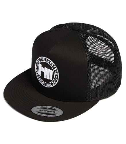 Slogan Stamp Mesh Trucker