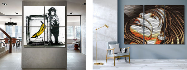 Large Scale Metal Art Print in commercial interiors