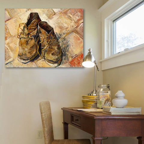 Vincent Van Gogh The Shoes – Reproduction on Metal