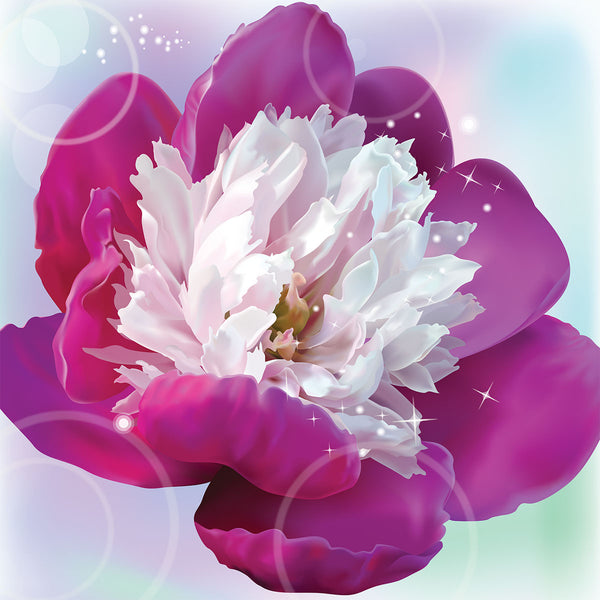 Pink Flower Peony – Extra Large Digital Metal Art Print