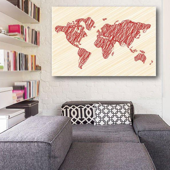 Abstract World Map – Extra Large Digital Art