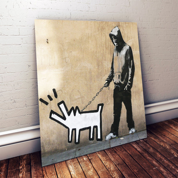 Banksy Haring Dog, Graffiti Street Art – Metal Poster