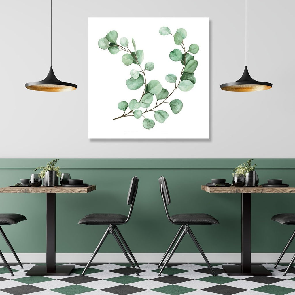 Eucalyptus Collection, Watercolor - Metal Print