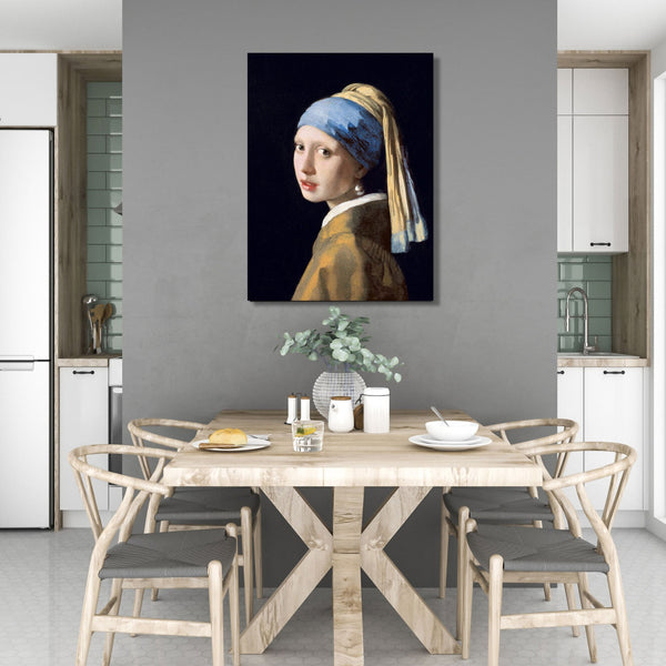 Johannes Vermeer Girl with a Pearl Earring – Reproduction on Metal