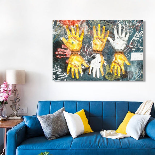 Colorful Hands Graffiti Street Art – Metal Poster