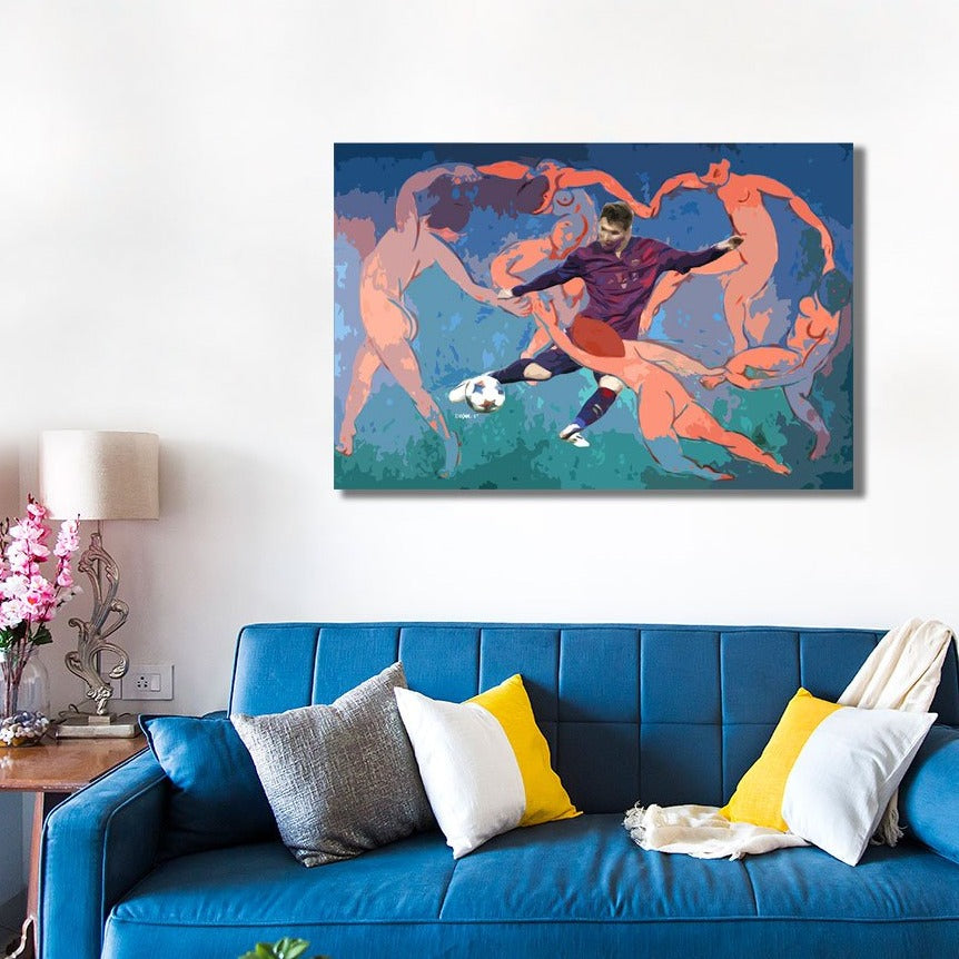 Messi in Matisse Art by Zelko Radic – Metal Poster