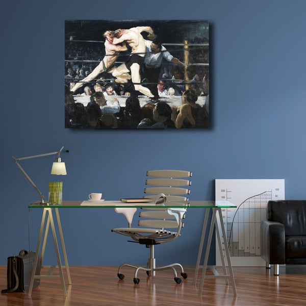 George Bellows, Boxing (1) – Reproduction on Metal