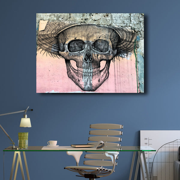Skull Smile – Graffiti Street Art Montreal – Printed on Metal