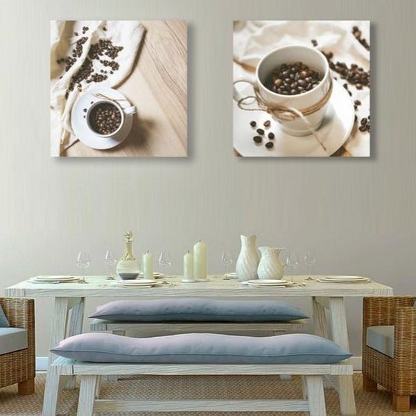 Coffee cup (Set of 2) – Metal Kitchen Wall Art Print