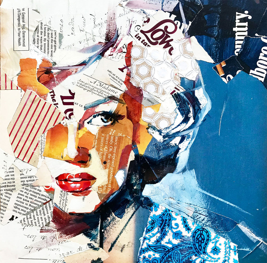 Marilyn Monroe – Collage Art Printed on Metal