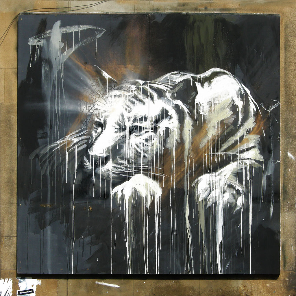 Tiger Graffiti — Street Art Printed on Metal