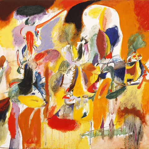 Arshile Gorky – Water of the Flowery Mill, Contemporary Art – Reproduction Printed on Metal