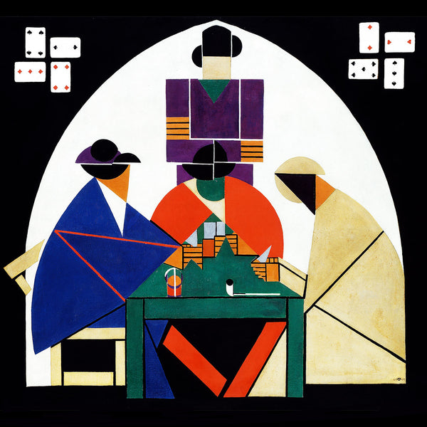Theo Van Doesburg, The Cardplayers – Reproduction on Metal