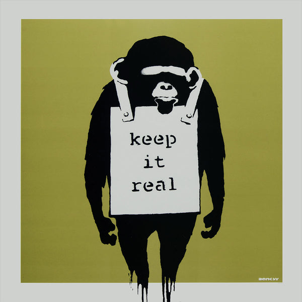 Banksy Keep It Real, Graffiti Street Art – Metal Poster