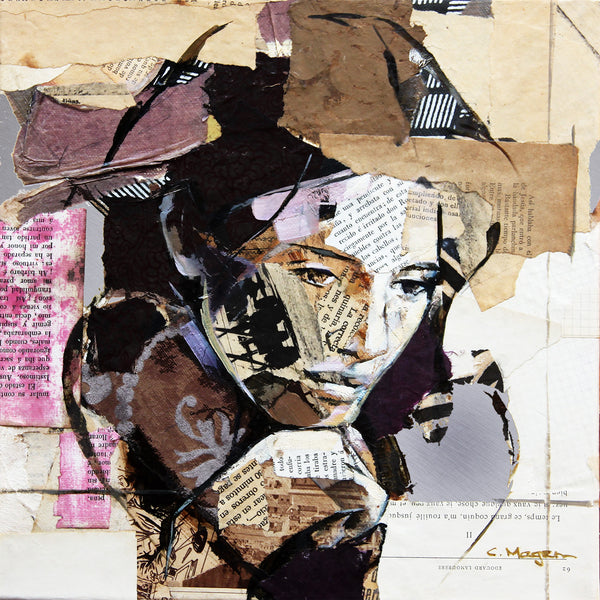 Woman Portrait – Collage Art Printed on Metal