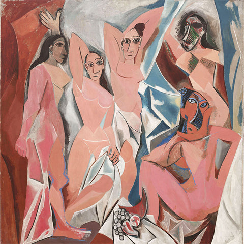 Pablo Picasso The Ladies of Avignon – Reproduction on Metal
