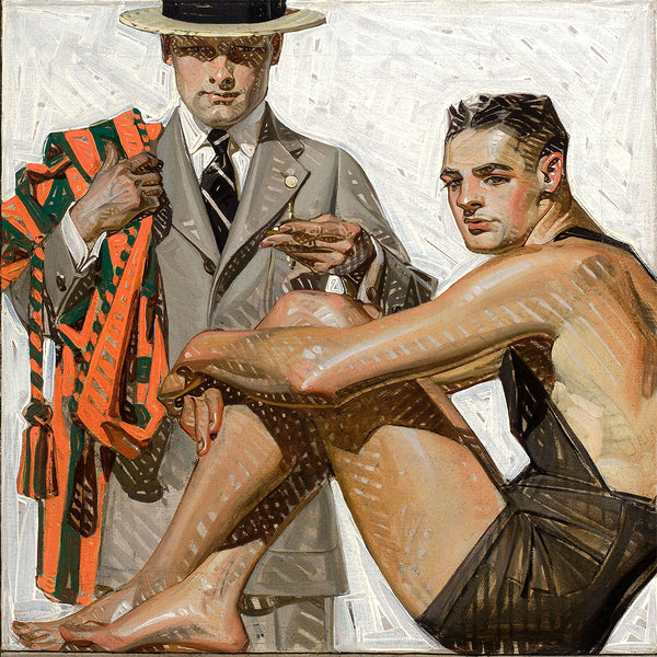 Frank X. Leyendecker Record Time (1920) – Reproduction on Metal