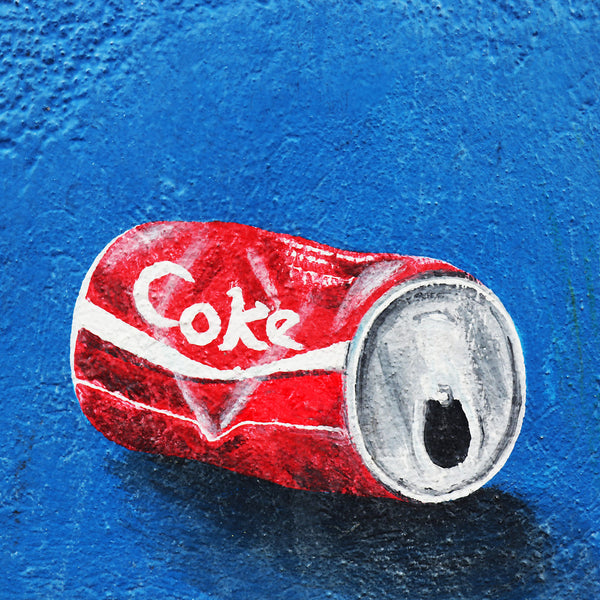 Coke Coca-Cola Red Can Graffiti Street Art (Berlin)) - Metal Poster