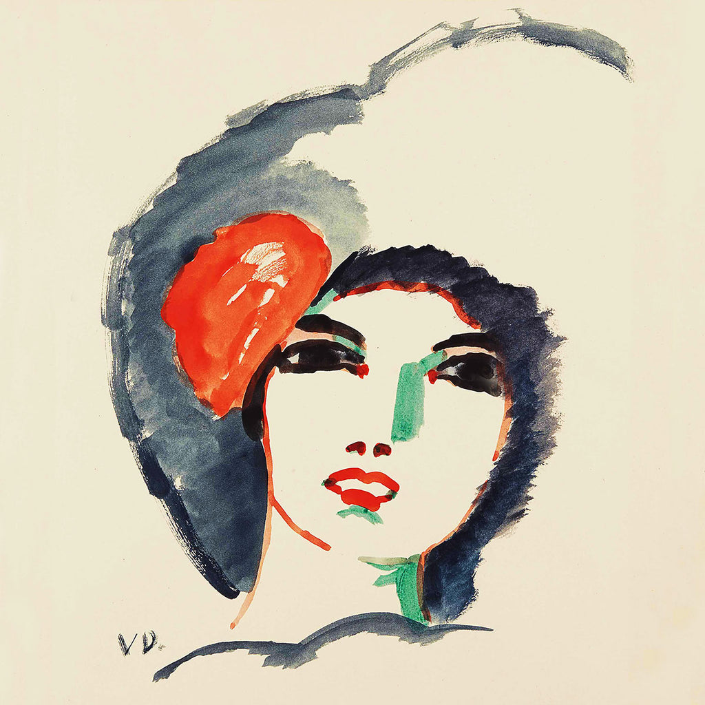 Kees van Dongen Woman face (1911) – Reproduction Printed on Metal