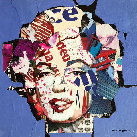 Carme Magem, Marilyn Monroe – Collage Art Printed on Metal