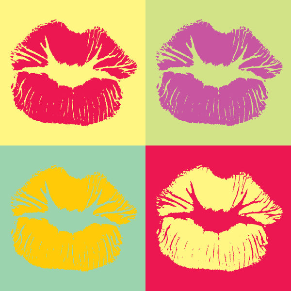 Pop Art Style Lips Kiss – Extra Large Digital Modern Art