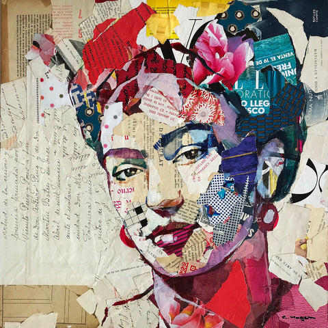 Carme Magem, Frida – Collage Art Printed on Metal